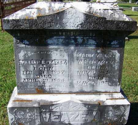 VEAZEY, WILLIAM R - Yell County, Arkansas | WILLIAM R VEAZEY - Arkansas Gravestone Photos