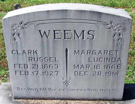 WEEMS, MARGARET LUCINDA - Yell County, Arkansas | MARGARET LUCINDA WEEMS - Arkansas Gravestone Photos
