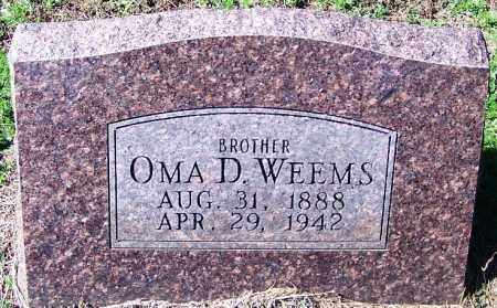 WEEMS, OMA D - Yell County, Arkansas | OMA D WEEMS - Arkansas Gravestone Photos