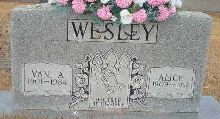 WESLEY, VAN A. - Yell County, Arkansas | VAN A. WESLEY - Arkansas Gravestone Photos
