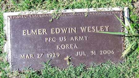 WESLEY (VETERAN KOR), ELMER EDWIN - Yell County, Arkansas | ELMER EDWIN WESLEY (VETERAN KOR) - Arkansas Gravestone Photos