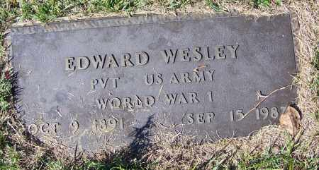 WESLEY (VETERAN WWI), EDWARD - Yell County, Arkansas | EDWARD WESLEY (VETERAN WWI) - Arkansas Gravestone Photos