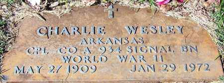 WESLEY (VETERAN WWII), CHARLIE - Yell County, Arkansas | CHARLIE WESLEY (VETERAN WWII) - Arkansas Gravestone Photos