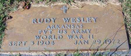 WESLEY (VETERAN WWII), RUDY - Yell County, Arkansas | RUDY WESLEY (VETERAN WWII) - Arkansas Gravestone Photos