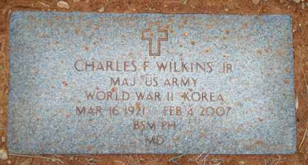WILKINS, JR (VETERAN 2 WARS), CHARLES F - Yell County, Arkansas | CHARLES F WILKINS, JR (VETERAN 2 WARS) - Arkansas Gravestone Photos
