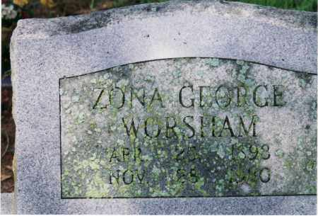 GEORGE WORSHAM, ZONA A. - Yell County, Arkansas | ZONA A. GEORGE WORSHAM - Arkansas Gravestone Photos