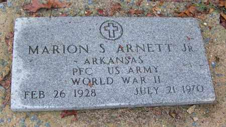 ARNETT, JR (VETERAN WWII), MARION S - Arkansas County, Arkansas | MARION S ARNETT, JR (VETERAN WWII) - Arkansas Gravestone Photos