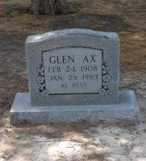 AX, GLEN - Arkansas County, Arkansas | GLEN AX - Arkansas Gravestone Photos