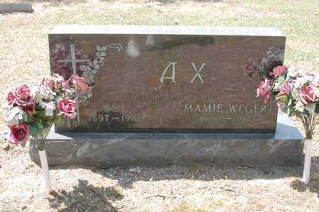 "AX, JOSEPH PETER ""JOE"" - Arkansas County, Arkansas 