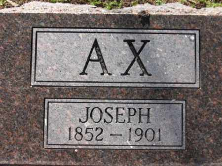 AX, JOSEPH - Arkansas County, Arkansas | JOSEPH AX - Arkansas Gravestone Photos
