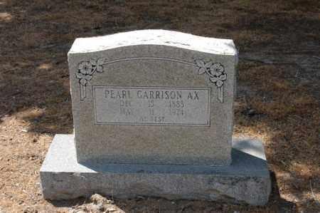 GARRISON AX, PEARLE - Arkansas County, Arkansas | PEARLE GARRISON AX - Arkansas Gravestone Photos