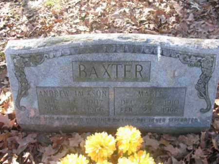 BAXTER, ANDREW JACKSON - Arkansas County, Arkansas | ANDREW JACKSON BAXTER - Arkansas Gravestone Photos