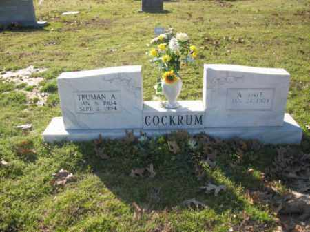 COCKRUM, TRUMAN ALLEN - Arkansas County, Arkansas | TRUMAN ALLEN COCKRUM - Arkansas Gravestone Photos