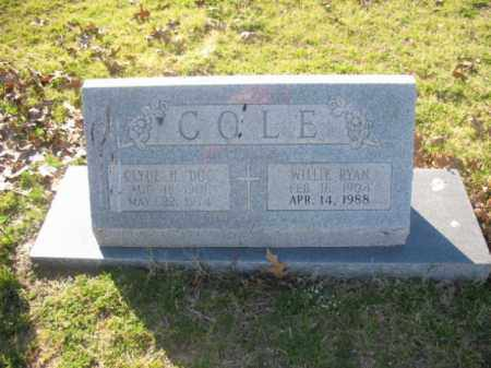 COLE, CLYDE H - Arkansas County, Arkansas | CLYDE H COLE - Arkansas Gravestone Photos