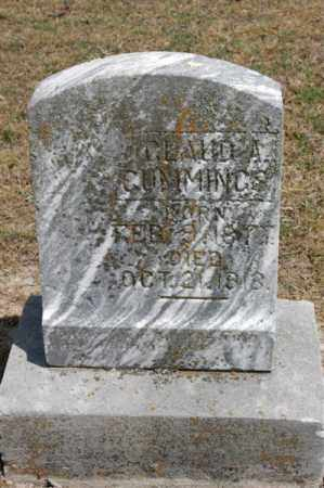 CUMMINGS, CLAUD A - Arkansas County, Arkansas | CLAUD A CUMMINGS - Arkansas Gravestone Photos