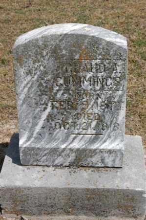 CUMMINGS, CLAUD A - Arkansas County, Arkansas | CLAUD A CUMMINGS - Arkansas Gravestone Photos