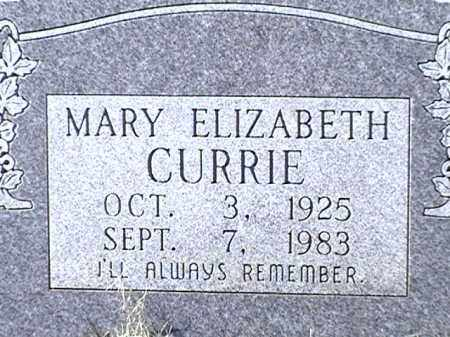 CURRIE, MARY ELIZABETH - Arkansas County, Arkansas | MARY ELIZABETH CURRIE - Arkansas Gravestone Photos
