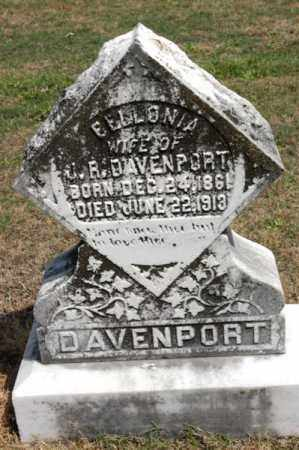 DAVENPORT, BELLONIA - Arkansas County, Arkansas | BELLONIA DAVENPORT - Arkansas Gravestone Photos