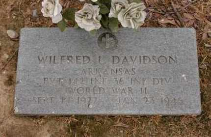 DAVIDSON  (VETERAN WWII, KIA), WILFRED - Arkansas County, Arkansas | WILFRED DAVIDSON  (VETERAN WWII, KIA) - Arkansas Gravestone Photos