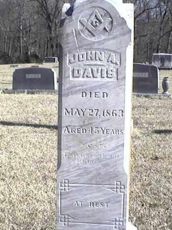 DAVIS, JOHN A. - Arkansas County, Arkansas | JOHN A. DAVIS - Arkansas Gravestone Photos
