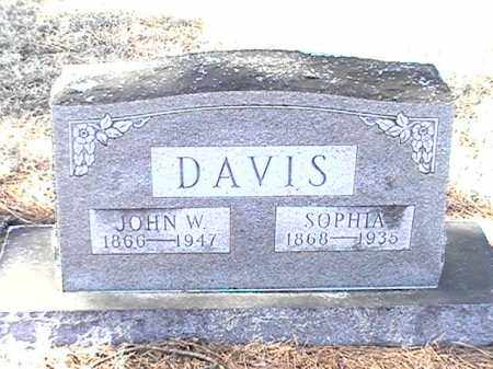DAVIS, JOHN W - Arkansas County, Arkansas | JOHN W DAVIS - Arkansas Gravestone Photos