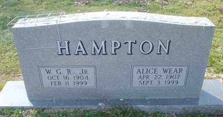WEAR HAMPTON, ALICE - Arkansas County, Arkansas | ALICE WEAR HAMPTON - Arkansas Gravestone Photos