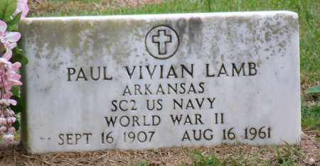 LAMB (VETERAN WWII), PAUL VIVIAN - Arkansas County, Arkansas | PAUL VIVIAN LAMB (VETERAN WWII) - Arkansas Gravestone Photos