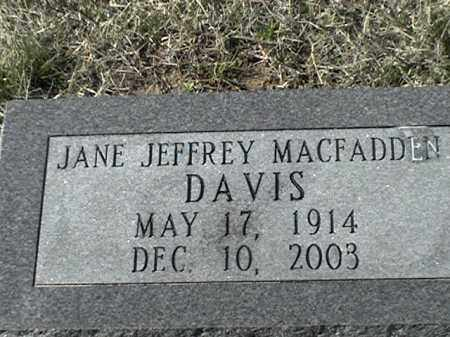 MACFADDEN, JANE - Arkansas County, Arkansas | JANE MACFADDEN - Arkansas Gravestone Photos