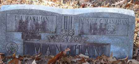 MANAHAN, E.J. - Arkansas County, Arkansas | E.J. MANAHAN - Arkansas Gravestone Photos