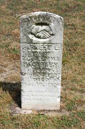 MCCARLEY, EARNEST L - Arkansas County, Arkansas   EARNEST L MCCARLEY - Arkansas Gravestone Photos