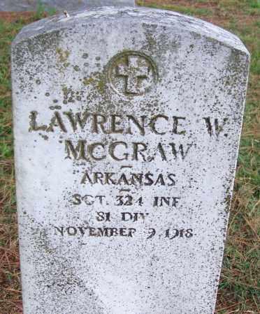 MCGRAW (VETERAN), LAWRENCE W - Arkansas County, Arkansas | LAWRENCE W MCGRAW (VETERAN) - Arkansas Gravestone Photos