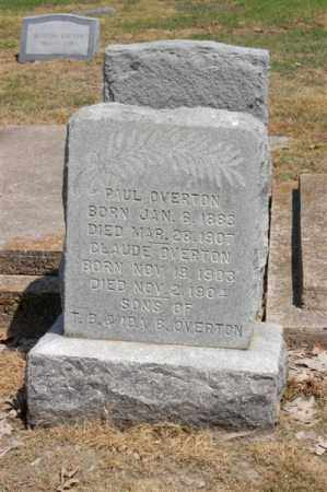 OVERTON, CLAUDE - Arkansas County, Arkansas | CLAUDE OVERTON - Arkansas Gravestone Photos