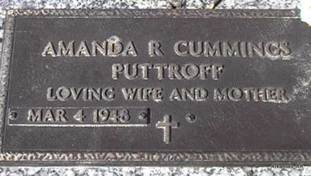 CUMMINGS PUTTROFF, AMANDA R. - Arkansas County, Arkansas | AMANDA R. CUMMINGS PUTTROFF - Arkansas Gravestone Photos