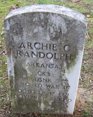 RANDOLPH (VETERAN WWII), ARCHIE C - Arkansas County, Arkansas | ARCHIE C RANDOLPH (VETERAN WWII) - Arkansas Gravestone Photos