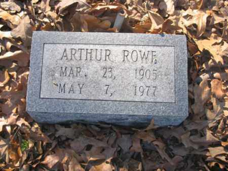 ROWE, ARTHUR - Arkansas County, Arkansas | ARTHUR ROWE - Arkansas Gravestone Photos