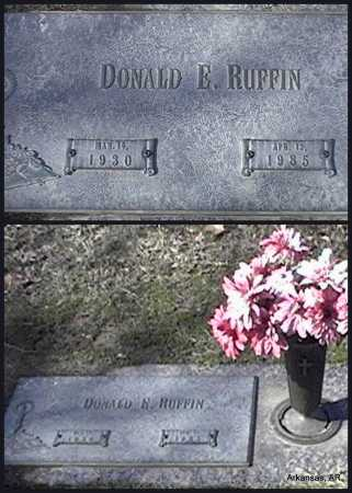 RUFFIN, DONALD E. - Arkansas County, Arkansas | DONALD E. RUFFIN - Arkansas Gravestone Photos