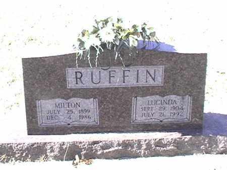 RUFFIN, LUCINDA - Arkansas County, Arkansas | LUCINDA RUFFIN - Arkansas Gravestone Photos