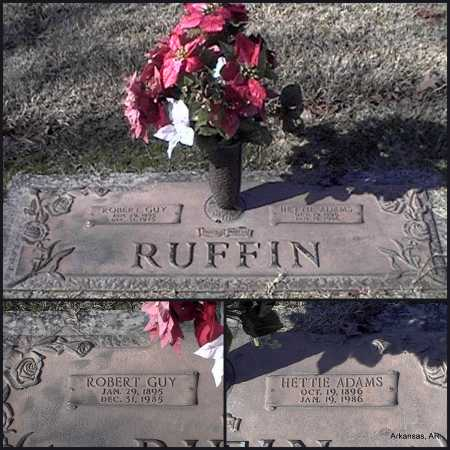 ADAMS RUFFIN, HETTIE - Arkansas County, Arkansas | HETTIE ADAMS RUFFIN - Arkansas Gravestone Photos
