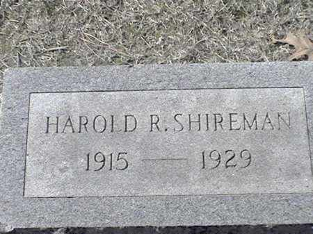 SHIREMAN, HAROLD R - Arkansas County, Arkansas | HAROLD R SHIREMAN - Arkansas Gravestone Photos