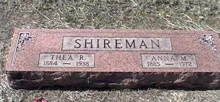 SHIREMAN, THEA R - Arkansas County, Arkansas | THEA R SHIREMAN - Arkansas Gravestone Photos
