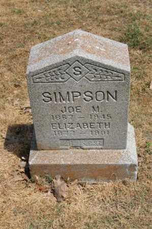 SIMPSON, JOE M - Arkansas County, Arkansas | JOE M SIMPSON - Arkansas Gravestone Photos