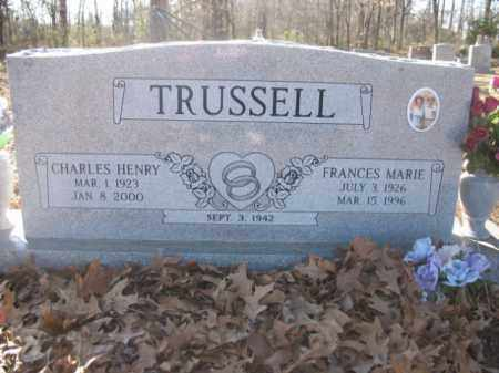TRUSSELL, FRANCES MARIE - Arkansas County, Arkansas | FRANCES MARIE TRUSSELL - Arkansas Gravestone Photos