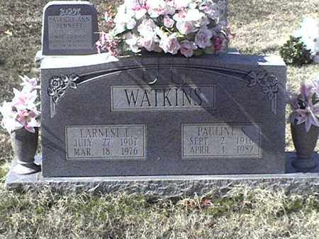 WATKINS, EARNEST L - Arkansas County, Arkansas | EARNEST L WATKINS - Arkansas Gravestone Photos
