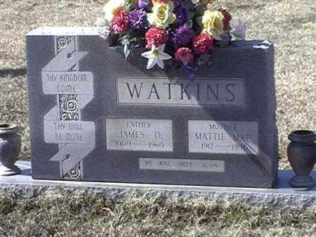 WATKINS, JAMES D - Arkansas County, Arkansas | JAMES D WATKINS - Arkansas Gravestone Photos