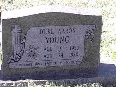 YOUNG, DUKE AARON - Arkansas County, Arkansas | DUKE AARON YOUNG - Arkansas Gravestone Photos