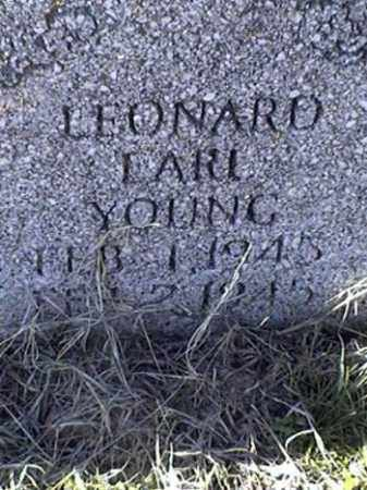 YOUNG, LEONARD EARL - Arkansas County, Arkansas | LEONARD EARL YOUNG - Arkansas Gravestone Photos