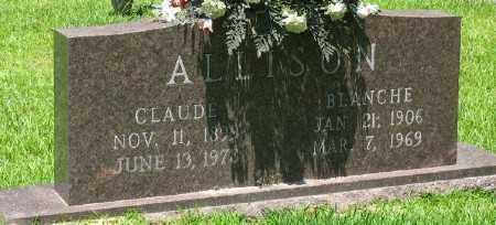 ALLISON, CLAUDE - Ashley County, Arkansas | CLAUDE ALLISON - Arkansas Gravestone Photos