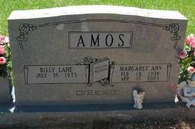 AMOS, MARGARET ANN - Ashley County, Arkansas | MARGARET ANN AMOS - Arkansas Gravestone Photos