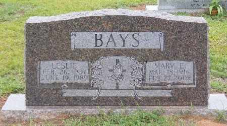 BAYS, LESLIE - Ashley County, Arkansas | LESLIE BAYS - Arkansas Gravestone Photos