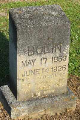 BOLIN, M. E. - Ashley County, Arkansas | M. E. BOLIN - Arkansas Gravestone Photos